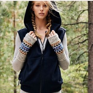 NWT! Free People Higher Ground Fleece Hooded Vest